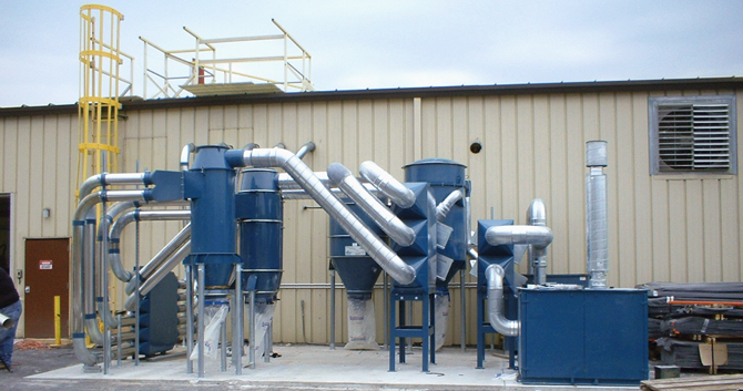 Central vacuum system from Dustcontrol